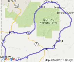 White Pine Scenic Loop:  Moscow, Potlatch, Bovill, Deary |  Idaho