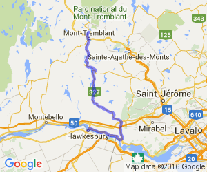 From Hawkesbury to Mont Tremblant on Route 327 |  Canada