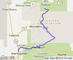 Riudoso to Alamogordo via Cloudcroft    New Mexico