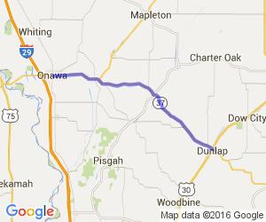 Rt 37 - Onawa to Soldier to Dunlop    Iowa
