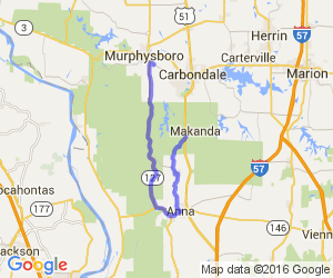The Murphysboro to Anna to Carbondale Loop |  Illinois