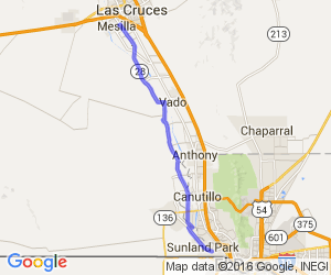 Route 28 from Sunland Park North to Mesilla    New Mexico