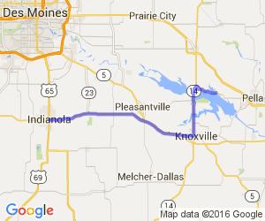Indianola to Lake Red Rock    Iowa