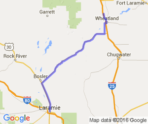 Laramie to Wheatland via Route 34 |  Wyoming