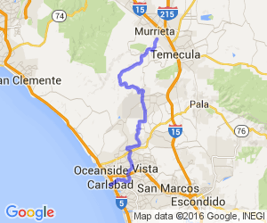 Murrieta to Carlsbad - Mountains to Beach |  California
