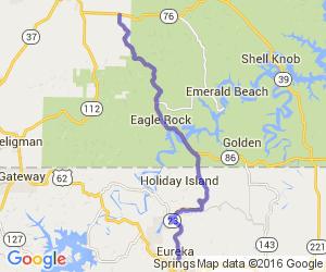 Missouri Route 86 - Ride the Eagle |  Arkansas