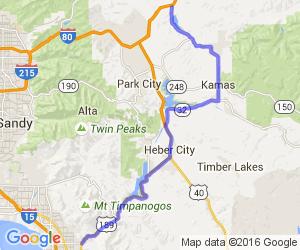 Wanship to Orem Lakes ride |  Utah