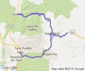 Enchanted Circle Plus Side Trip    New Mexico