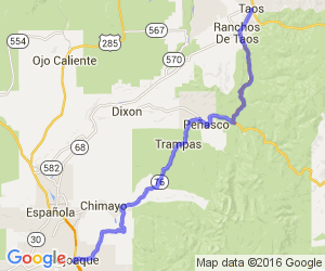 High Road to Taos Scenic Byway    New Mexico