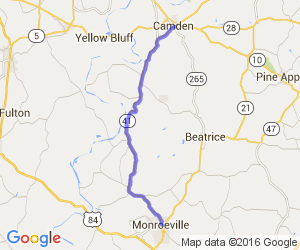 Route 41 - Monroeville to Camden |  Alabama