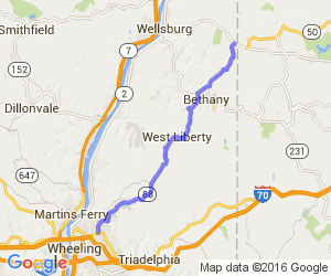 State Route 88 from Wheeling to the PA Border |  West Virginia
