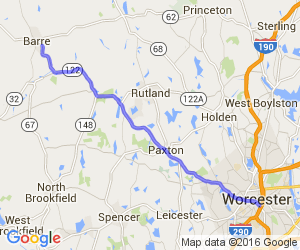 Worcester to Barre on Route 122 |  Massachusetts