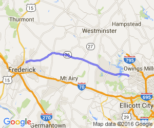 Frederick to Baltimore on Route 26 |  Maryland