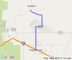 Edgewood up to Golden on Route 344    New Mexico