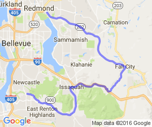 New Castle to Redmond Half Loop |  Washington