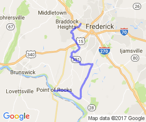 Frederick to Point of Rocks |  Maryland