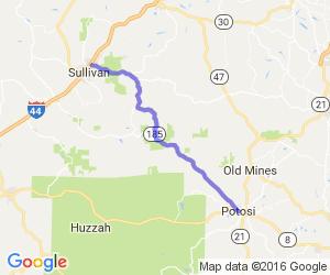 MO Route 185 - Potosi to Oak Grove Village |  Missouri