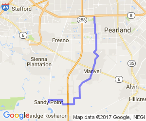 Pearland to Sandy Point |  Texas
