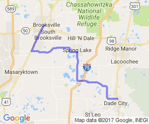 Dade City to Brooksville |  Florida