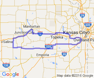 Loop from Olathe, KS to Abilene, KS and the Eisenhower Museum |  Kansas