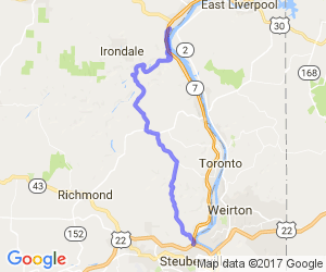 Ohio Route 213 - Wellsville to Steubenville |  Ohio