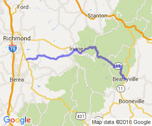 KY 499 to 52 - Richmond to Beattyville |  Kentucky