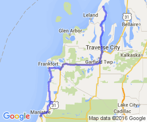 Manistee to Traverse City; Lake Michigan Shore Tour |  Michigan
