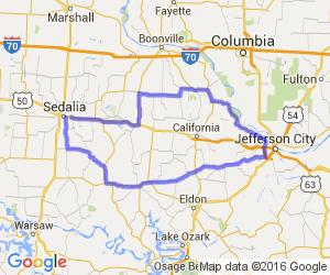 The Jefferson City Sedalia Half Day Loop |  Missouri