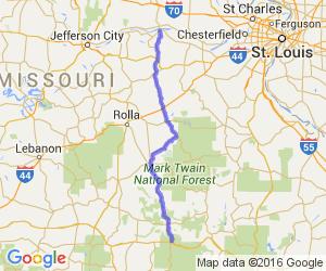 Hwy 19 from Hermann to Winona |  Missouri