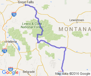Scenic Route From Big Timber to Great Falls |  Montana