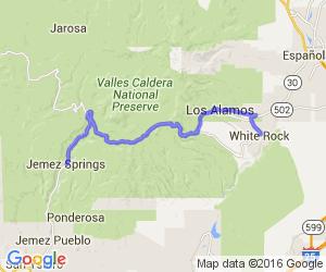 Rt. 4 - White Rock to Jemez Springs    New Mexico