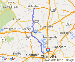 Route 16 - Charlotte to Wilkesboro |  North Carolina
