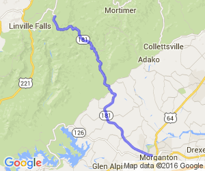 Route 181 - Joanas Ridge to Morganton |  North Carolina