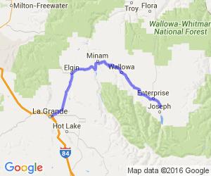 Oregon Hwy 82 Wallowa Valley to La Grande    Oregon