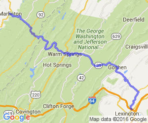 George Washington National Forest Hills Tour - Rte 39 |  West Virginia