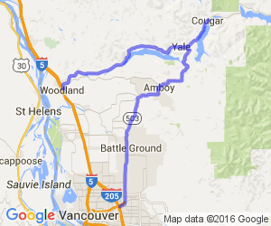 503-Lewisville Hwy (north of Battle Ground) to Mt. St. Helens Nat'l Forest |  Washington