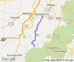 Route 20 from Buckhannon WV to Webster Springs WV |  West Virginia