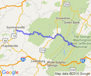 West Virginia 39 (West of US 220) |  West Virginia