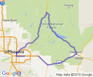 Mesa, Globe, Punkin Center, and back to Mesa |  Arizona