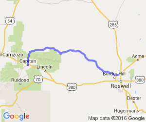 Hwy 246 - Roswell to Capitan    New Mexico