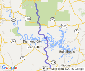 Hwy 125 North of Hwy 160 Reuter to Bradleyville |  Missouri