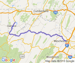 Winchester VA to Deep Creek Lake MD |  West Virginia