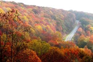 North Carolina motorcycle ride in the fall