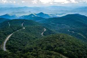 High point of Cherohala Skyway