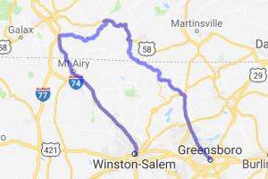 Greensboro, NC - Blue Ridge Pkwy - Winston-Salem    Virginia