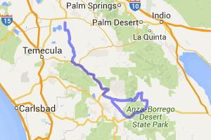 Hemet to Borrego Springs |  California