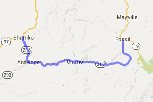 Shaniko to Fossil on Route 218 |  Oregon