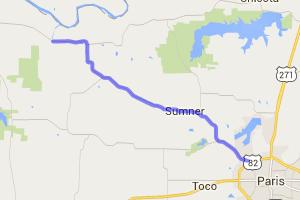 Paris TX to Caddo National Grassland |  Texas