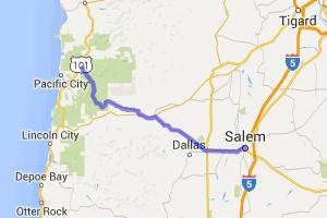 Santiam Hwy from Salem to the Coast |  Oregon