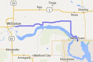 Rt 1804 from Now Town to Williston |  North Dakota